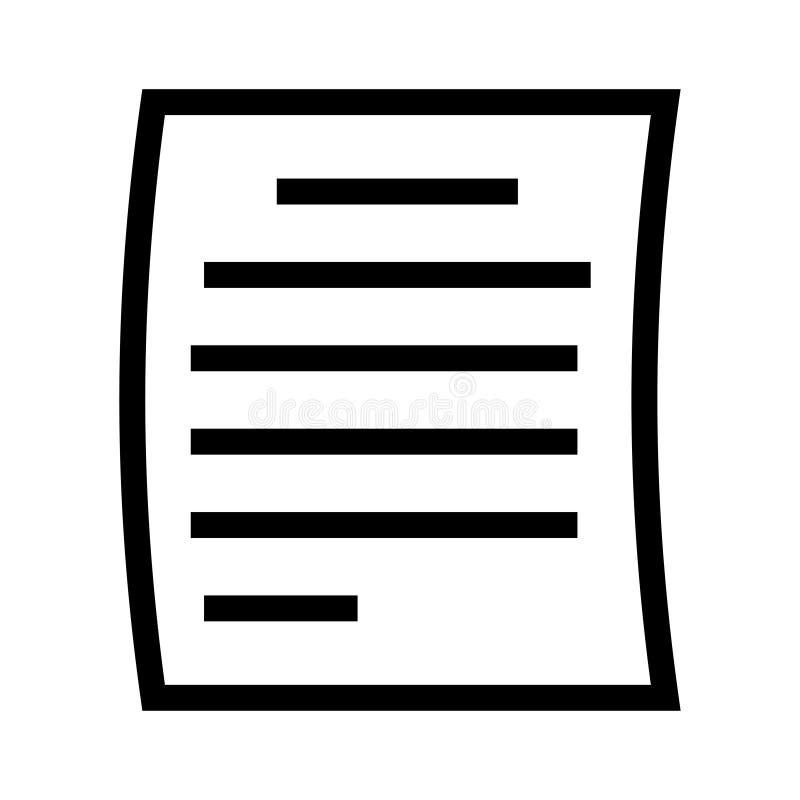 Page line icon stock illustration