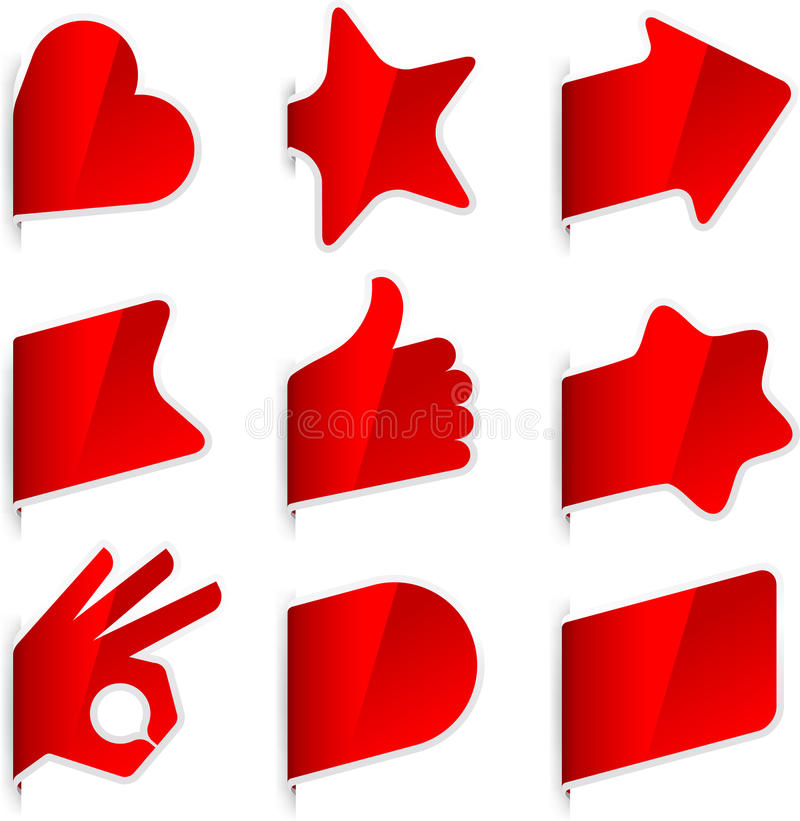 Download Page markers stock vector. Image of posting, postit, star - 28109656