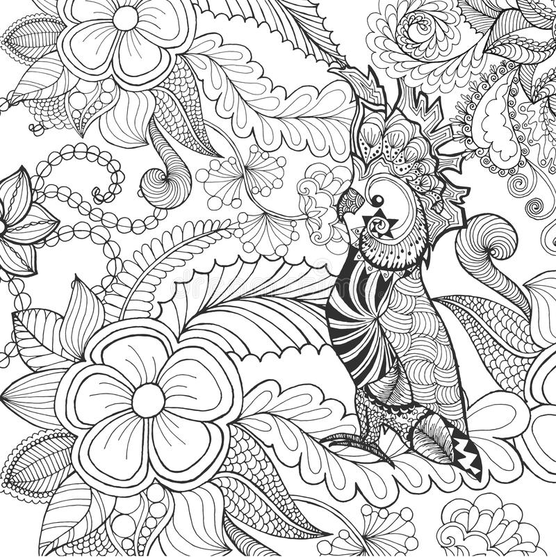 Page mignonne de coloration de cacatoès illustration de vecteur