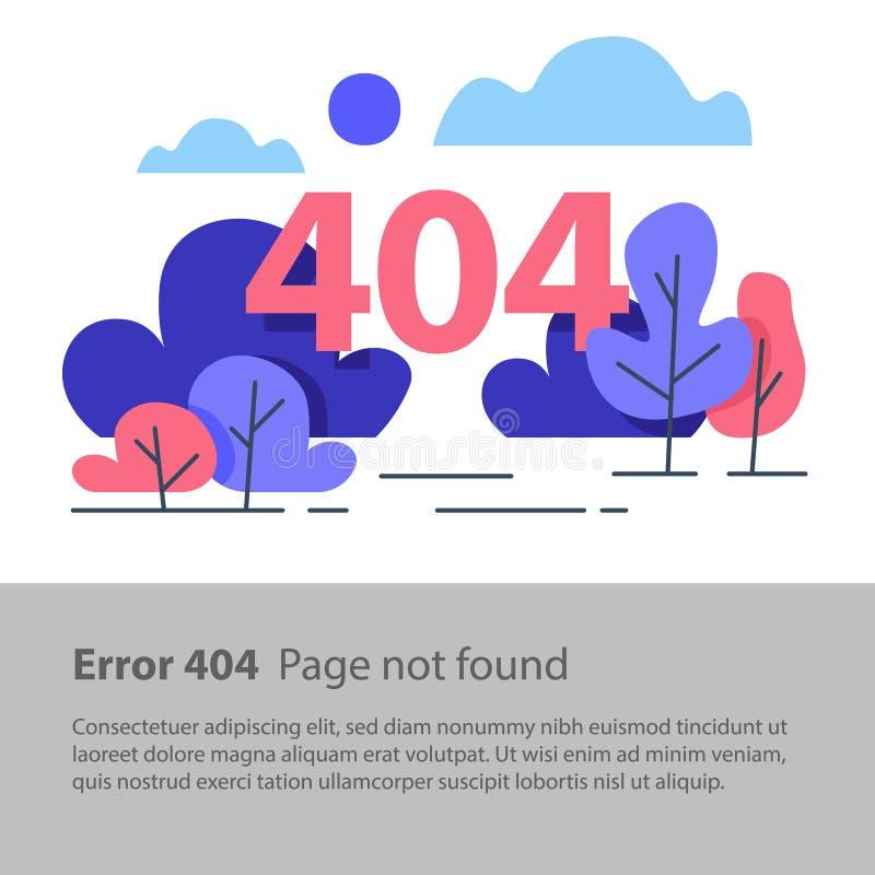 Page non trouvée, erreur 404, bannière de Web, illustration plate illustration de vecteur
