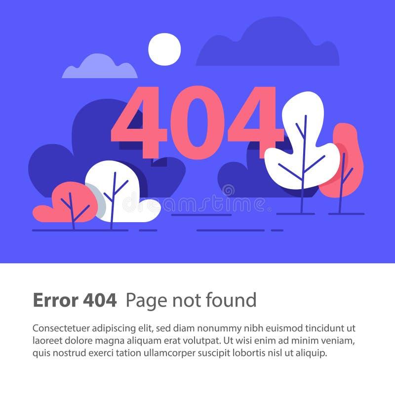 Page non trouvée, erreur 404, bannière de Web, illustration plate illustration stock