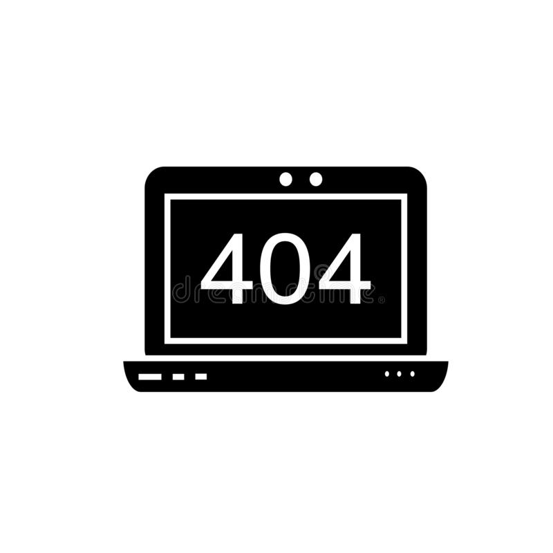 Page not found error vector illustration
