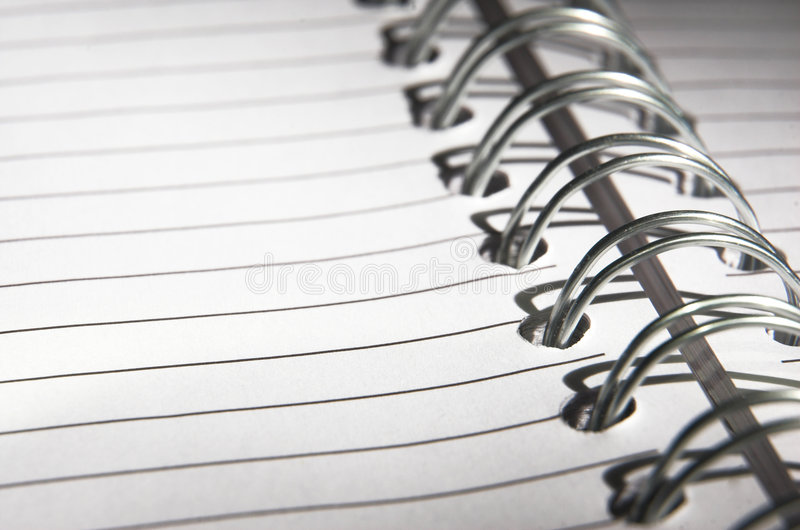 Download Page in a notebook stock photo. Image of note, paper, open - 4503062