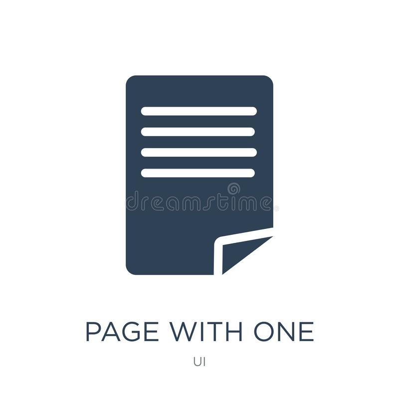 page with one curled corner icon in trendy design style. page with one curled corner icon isolated on white background. page with royalty free illustration