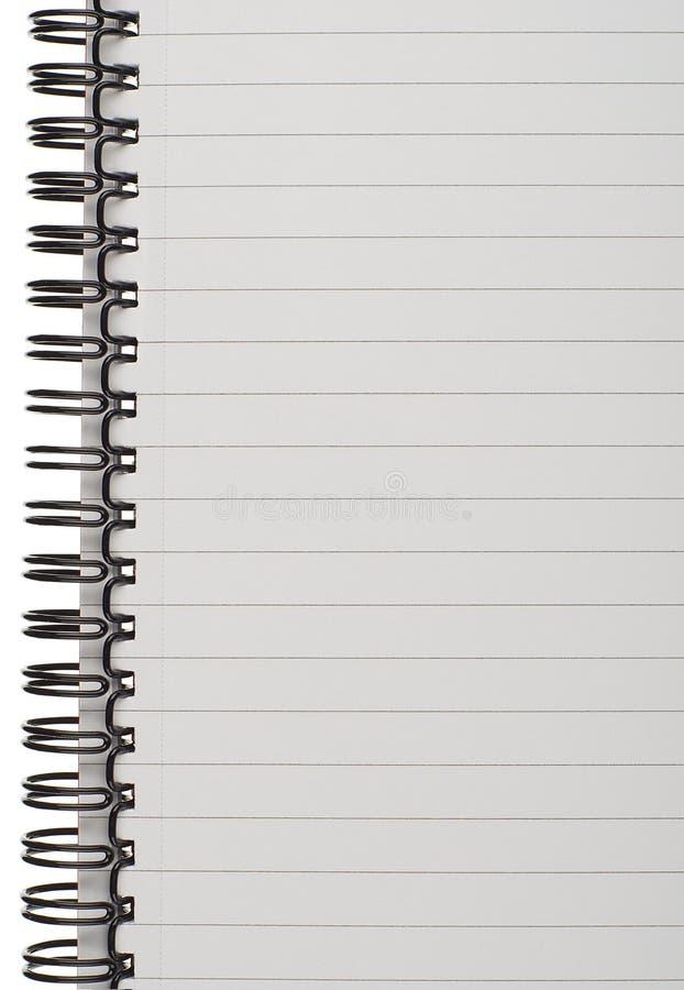 Page rayée de bloc-notes images libres de droits