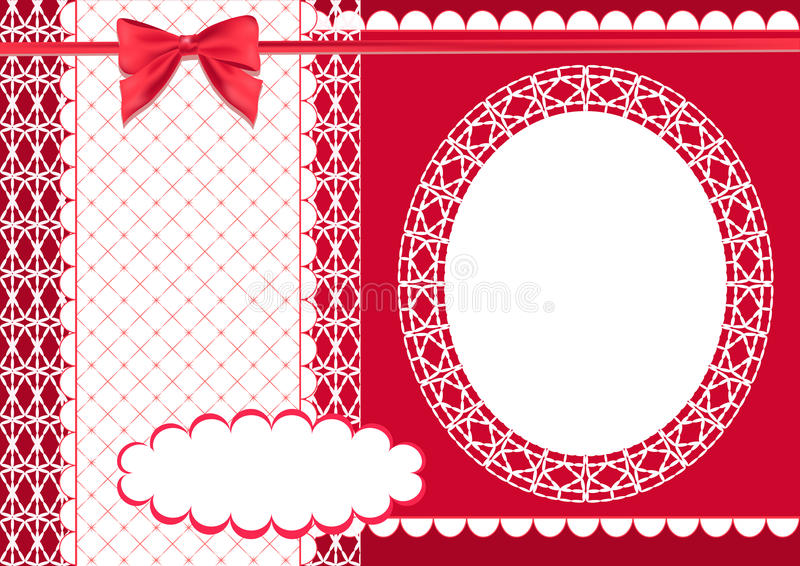 Page For Scrapbook Red Stock Vector Illustration Of Handmade