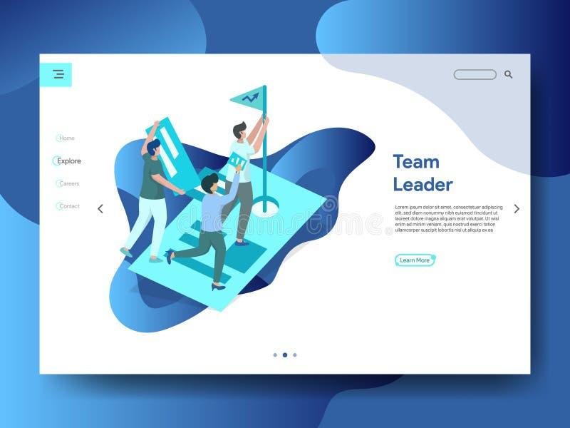 Page Team Leader d'atterrissage illustration libre de droits