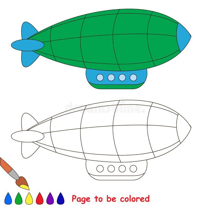 3d Design Using Home Designer Chief Architect Multi Level: Green Zeppelin. Drawing Worksheet. Stock Vector