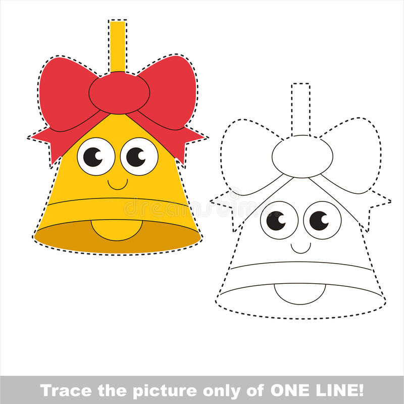 Page to be traced, kid one line tracing educational game. royalty free illustration
