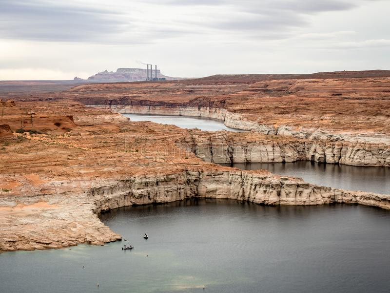 Scenic view of Lake Powell early morning near Page Arizona stock images