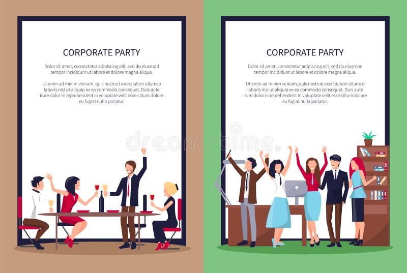 Page Web des personnes faisant la fête l'illustration de vecteur illustration stock