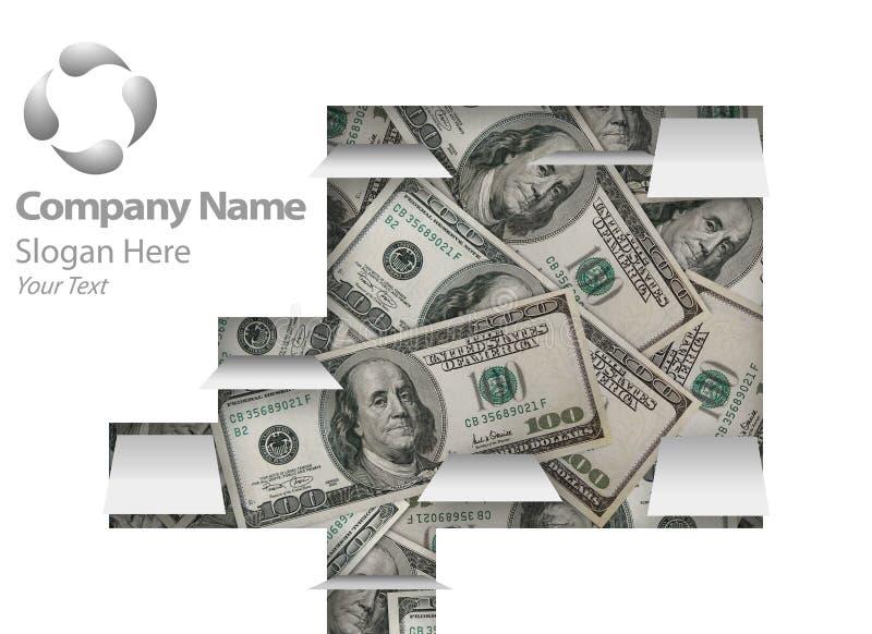 page Web financier de conception illustration de vecteur