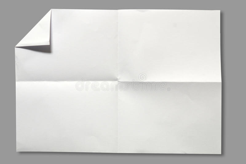 Page of White paper stock photography