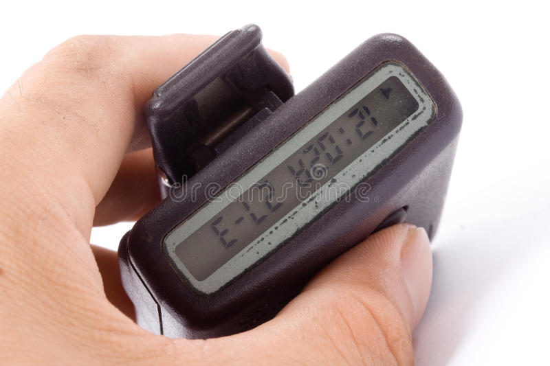 Pager. Closer up of pager with white background