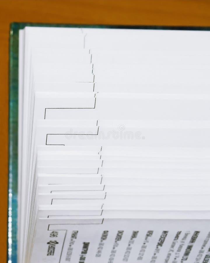 Pages éventées photographie stock libre de droits