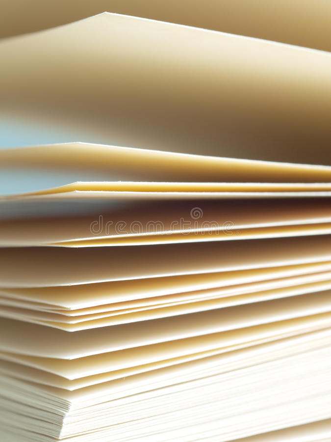 Pages. Close-up of blank notebook pages royalty free stock photography