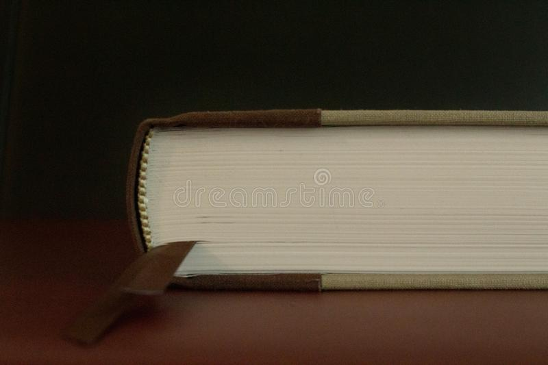 The pages of an antique closed book royalty free stock images