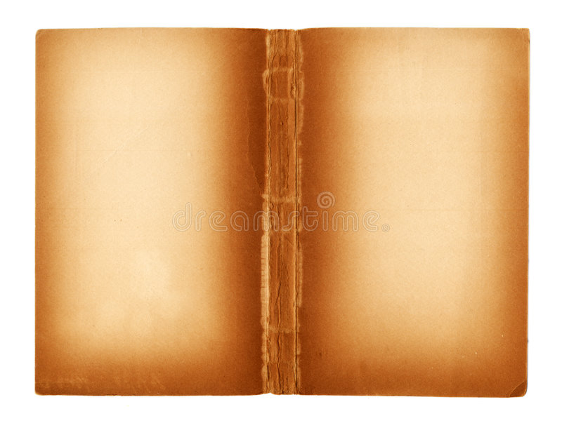 Pages blanc d'un livre antique images stock