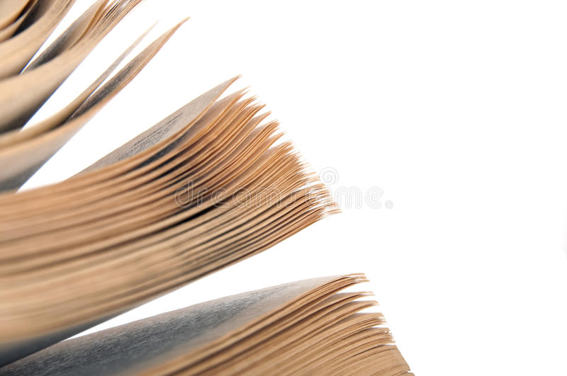 Pages of a book stock photography