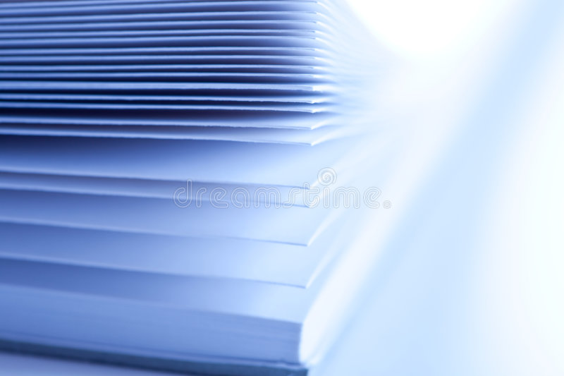 Pages of a book stock image