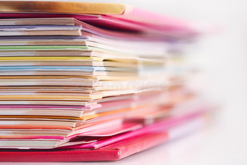 Pages of a book stock images