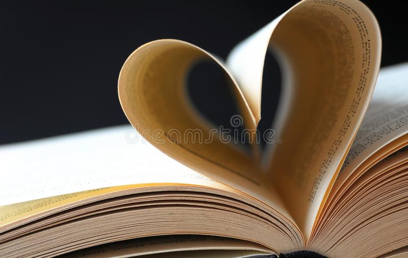 Download Pages Of A Book Curved Into A Heart Stock Image - Image: 35015343
