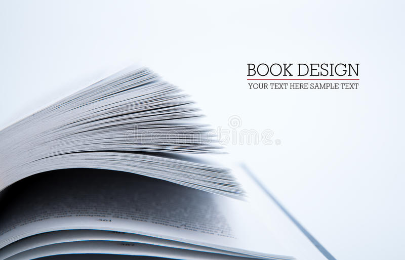 Pages of the book. Macro on white background stock photo