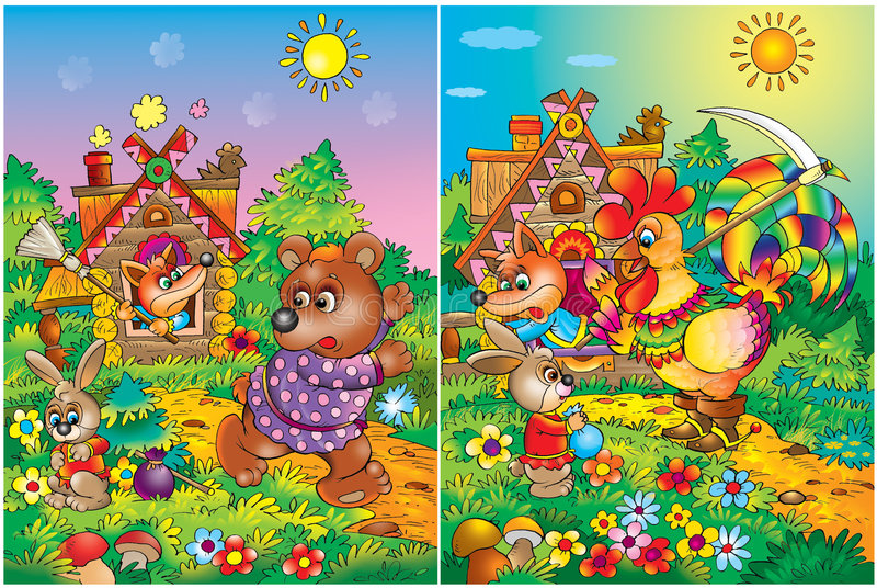 Pages colorées de Storybook photographie stock libre de droits