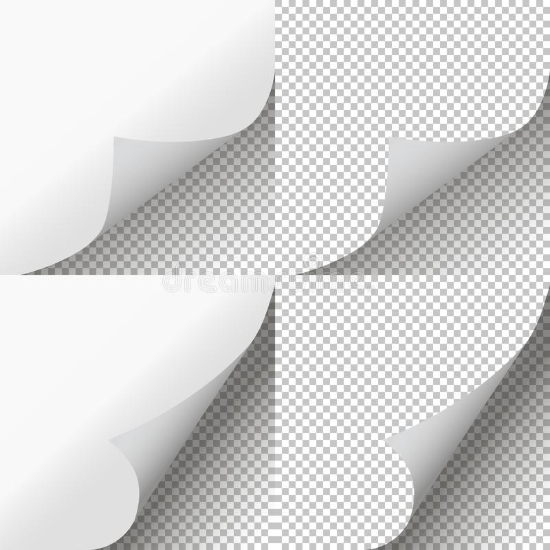 Free Pages Curl Set. Page Peel Transparent. Vector Royalty Free Stock Photography - 146334417