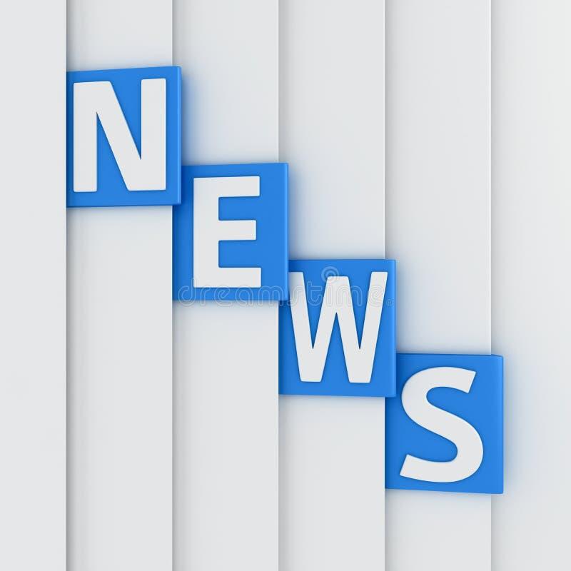 Pages d'actualités illustration libre de droits
