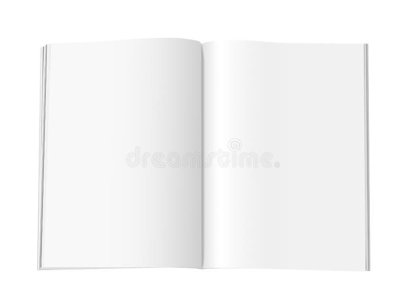Pages de magazine blanc - XL illustration libre de droits