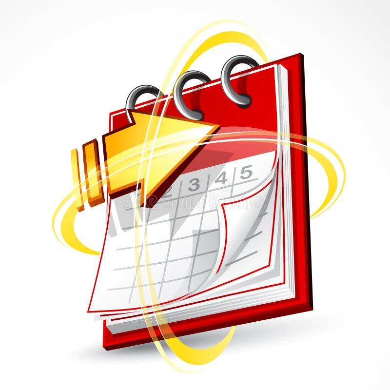 Pages et flèche de calendrier illustration libre de droits