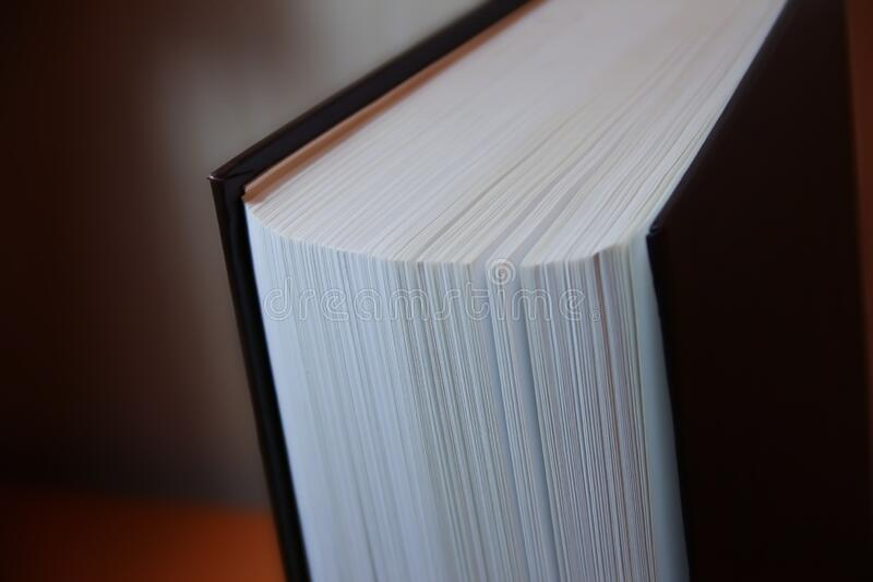 The pages of a thick book from the near.  royalty free stock photo