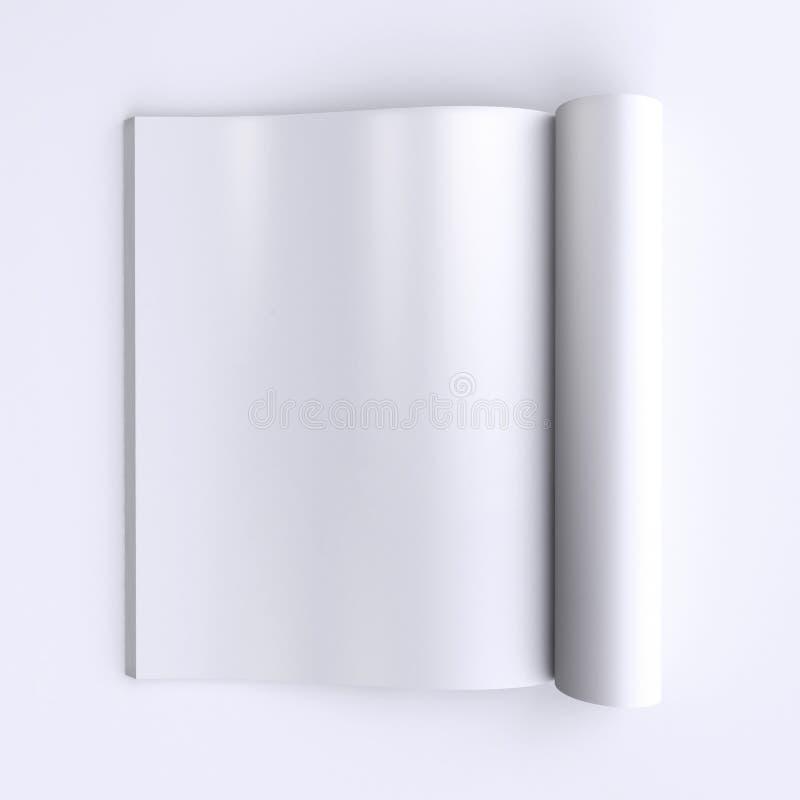 Pages vides de calibre d'une revue ouverte, des journaux ou des livres illustration libre de droits