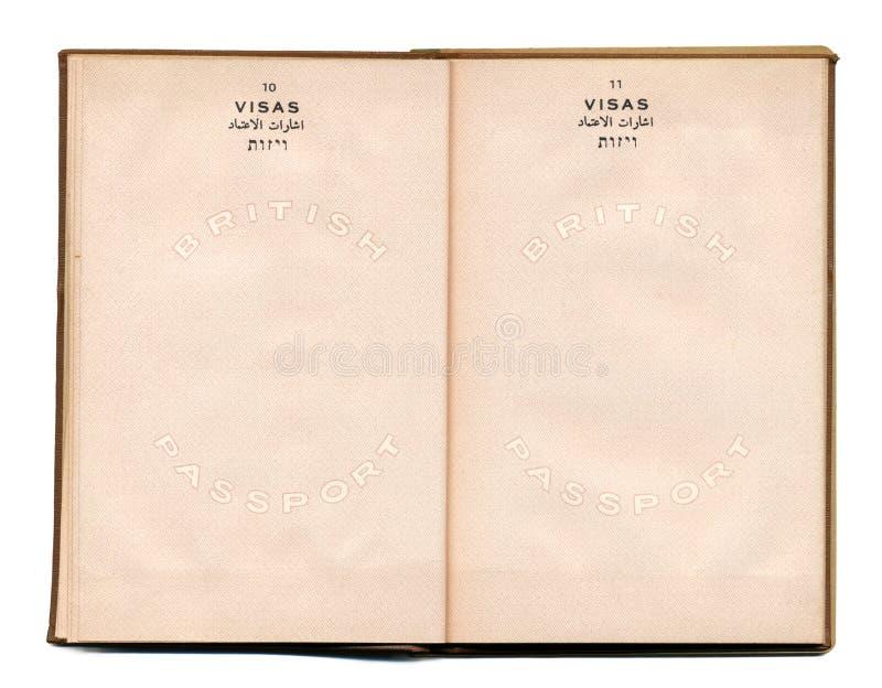 British-Palestine Vintage Passport Stock Photos