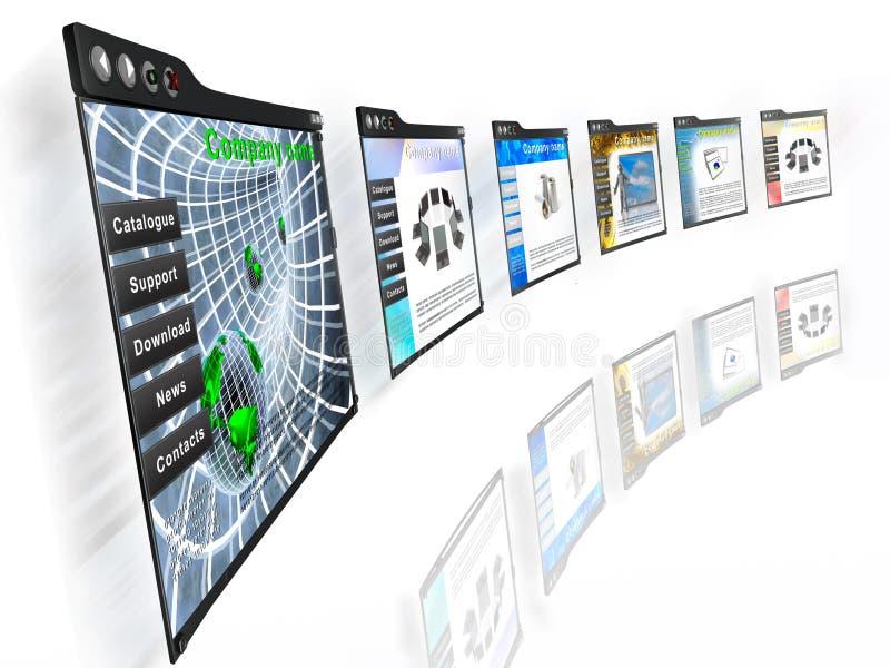 Pages Web photo libre de droits