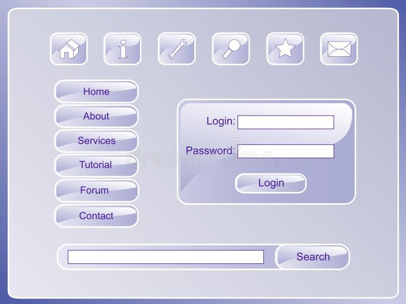 pagesoftset 库存例证