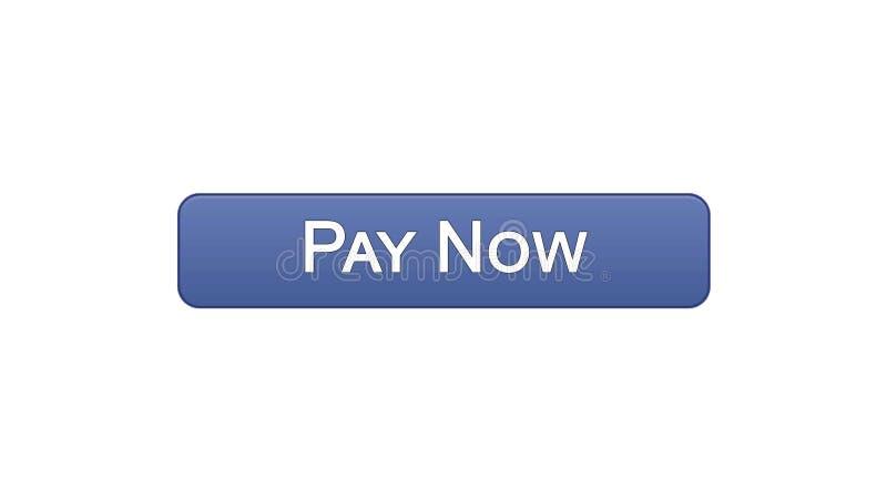 Paghi ora a bottone dell'interfaccia di web il colore viola, il servizio bancario online, acquisto royalty illustrazione gratis