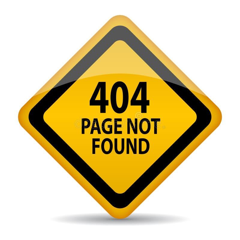pagina 404 non trovata illustrazione di stock