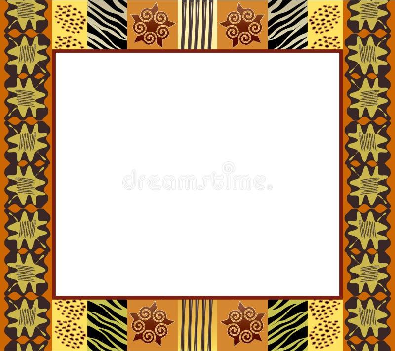Pagina africana 1 di stile illustrazione di stock