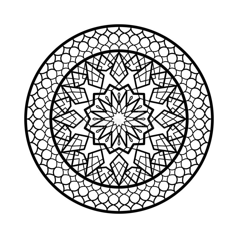 Pagina araba del cerchio Progettazione islamica tradizionale Elemento della decorazione della moschea Fondo di eleganza con area  royalty illustrazione gratis