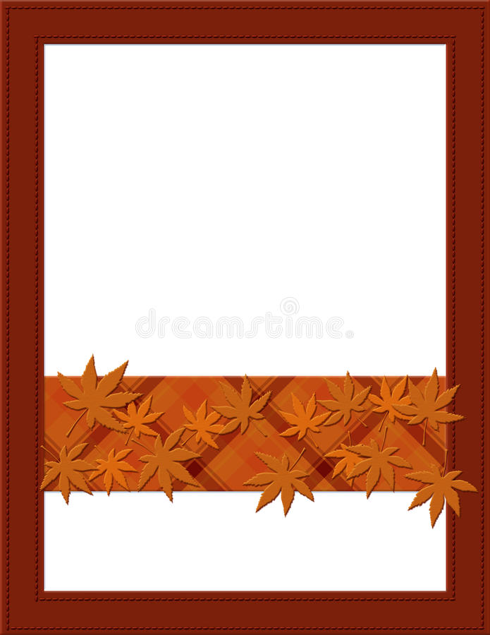 Pagina arancio di caduta per il vostro messaggio o invito immagini stock