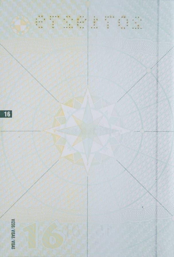 Pagina in bianco del passaporto fotografia stock libera da diritti