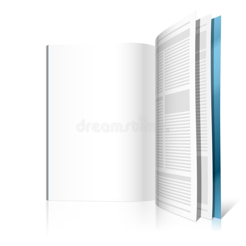 Pagina in bianco dello scomparto. Illustrazione di vettore. illustrazione vettoriale