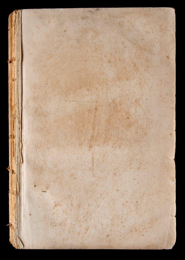 Pagina in bianco di libro molto vecchio fotografia stock