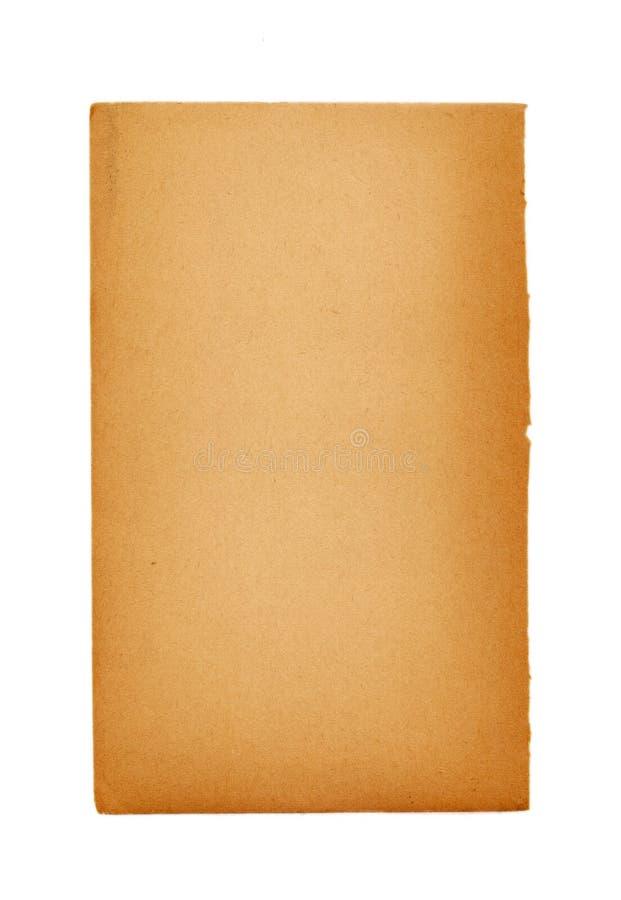 Pagina in bianco di un libro antico fotografie stock