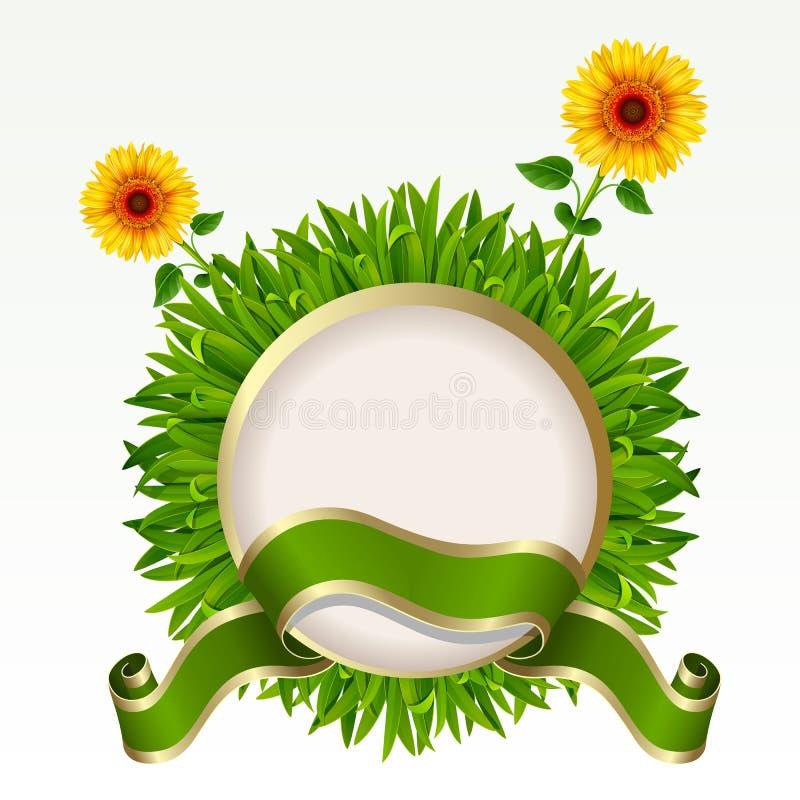 Pagina con erba illustrazione vettoriale