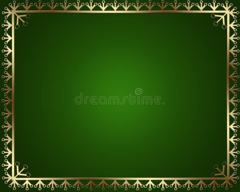 Pagina con gli ornamenti dell'oro illustrazione di stock