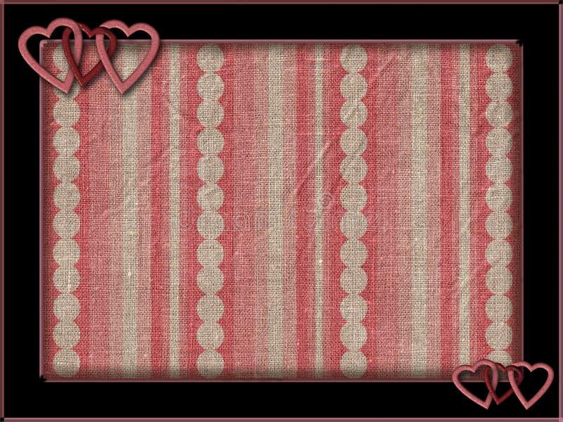 Pagina con i cuori ed il fondo rosa fotografie stock