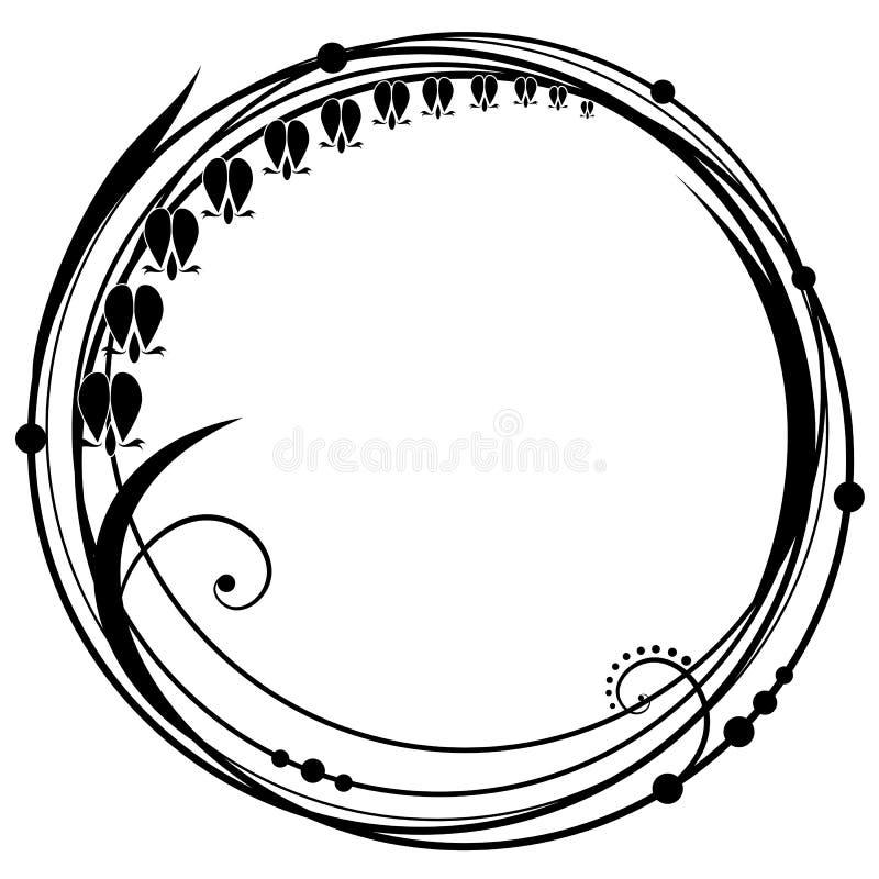 Pagina con i fiori del Dicentra royalty illustrazione gratis